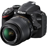 NIKON D3200 Kit VR II - Black - Camera SLR